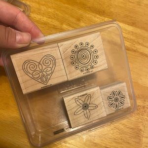 "Stampin Up stamps ""polka dot punches"" EUC"